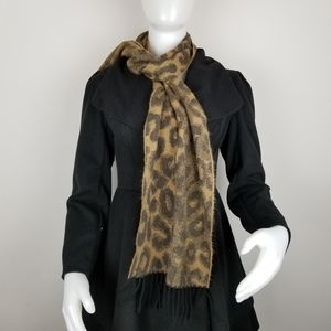 Cejon Brown Animal Print Scarf Made in Italy
